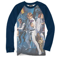 Image: Star Wars Long-Sleeve Shirt: Jumbo Poster [Navy]  (L) - Mighty Fine