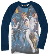 Image: Star Wars Long-Sleeve Shirt: Jumbo Poster [Navy]  (XL) - Mighty Fine