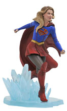 Image: Supergirl CW Gallery PVC Statue: Supergirl  - Diamond Select Toys LLC