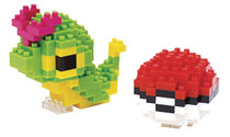 Image: Nanoblock Pokemon Block Set: Caterpie & Pokeball  - Schylling Associates Inc