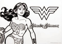 Image: DC Comics Silicone Coloring Placemat: Wonder Woman  - Bumkins Finer Baby Products
