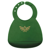 Image: Legend of Zelda Silicone Superbib: Triforce  - Bumkins Finer Baby Products