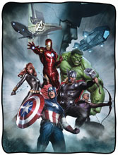 Image: Marvel Character Fleece Blanket: Avengers  - Surreal Entertainment