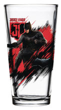 Image: Justice League Movie Pint Glass: Batman  - Popfun Merchandising LLC