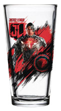 Image: Justice League Movie Pint Glass: Cyborg  - Popfun Merchandising LLC