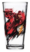 Image: Justice League Movie Pint Glass: Flash  - Popfun Merchandising LLC