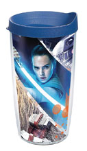 Image: Star Wars Last Jedi Tumbler: Action Shot  (w/Blue Lid) (16-ounce) - Tervis Tumbler Co.