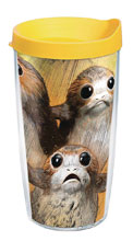 Image: Star Wars Last Jedi Tumbler: Porg  (w/Yellow Lid) (16-ounce) - Tervis Tumbler Co.
