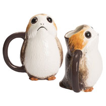 Image: Star Wars: Last Jedi Ceramic Sculpted Mug: Porg  - Vandor LLC