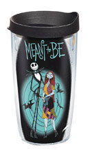 Image: Nightmare Before Christmas Tumbler: Simply Meant to be  (w/Black Lid) (16-ounce) - Tervis Tumbler Co.