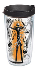 Image: Nightmare Before Christmas Tumbler: The Pumpkin King  (w/Black Lid) (16-ounce) - Tervis Tumbler Co.
