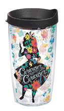Image: Alice in Wonderland Tumbler: Curiouser  (w/Black Lid) (16-ounce) - Tervis Tumbler Co.