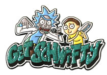 Image: Rick and Morty Lapel Pin: Get Schwifty  - Zen Monkey Studios LLC