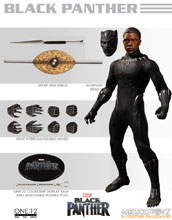 Image: One-12 Collective Marvel Action Figure: Black Panther  - Mezco Toys