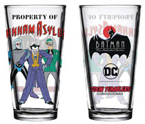 Image: Batman Animated Series Pint Glass: Arkham  - Popfun Merchandise