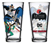Image: Batman Animated Series Pint Glass: Batfamily  - Popfun Merchandise
