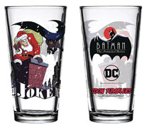 Image: Batman Animated Series Pint Glass: Christmas  - Popfun Merchandise
