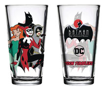 Image: Batman Animated Series Pint Glass: Gotham Sirens  - Popfun Merchandise
