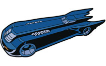 Image: Batman Animated Series Magnet: Batmobile  - Popfun Merchandise