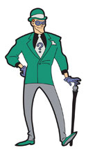Image: Batman Animated Series Magnet: Riddler  - Popfun Merchandise