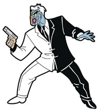 Image: Batman Animated Series Magnet: Two-Face  - Popfun Merchandise