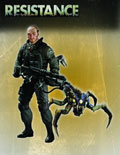 Image: Resistance Series 1 Action Figure: Nathan Hale with Swarmer  - DC Direct