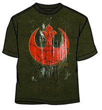 Image: Star Wars: Rebel Yell Military Green T-Shirt  (L) -