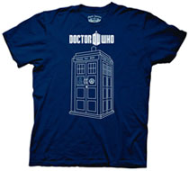 Image: Doctor Who: Tardis Vector Graphics T-Shirt [Navy]  (L) -