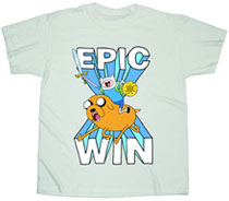 Image: Adventure Time: Epic Win T-Shirt [Cream]  (M) -