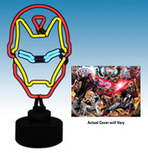 Image: Marvel Iron Man Neon Sign  (w/comic) - Diamond Select Toys