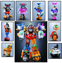 Image: Cho Gattai King Robo Mickey & Friends Chogokin Figure  - Tamashii Nations