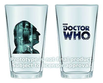 Image: Doctor Who: 50th-Anniversary 16-oz. Glass 2-Pack - 1st Doctor  - Doctor Who