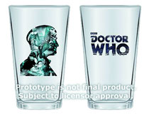 Image: Doctor Who: 50th-Anniversary 16-oz. Glass 2-Pack - 2nd Doctor  - Doctor Who