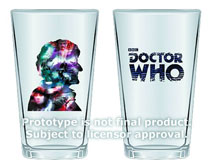 Image: Doctor Who: 50th-Anniversary 16-oz. Glass 2-Pack - 3rd Doctor  - Doctor Who