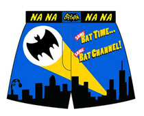 Image: Batman '66 Boxers: Same Bat-Time, Same Bat-Channel Glow-in-the-Dark  (S) -