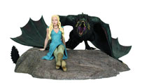 Image: Game of Thrones Daenerys & Drogon Statue  - Dark Horse Comics