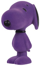 Image: Snoopy Flocked Vinyl Figure: Orchid  (5.5-inch) - Dark Horse Comics