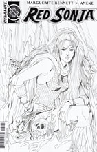 Image: Red Sonja Vol. 3 #4 (variant incentive cover B - Sauvage B&W) (10-copy)  [2016] - Dynamite