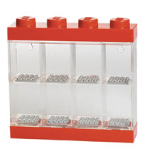 Image: Lego Minifigure Display Case  (8 Red) - Room Copenhagen