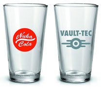Image: Fallout Pint Glass Set  (2-Pack) - Just Funky LLC