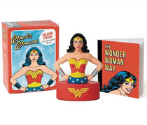 Image: Wonder Woman Talking Figure & Illustrated Book Kit  - Running Press