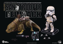 Image: Star Wars: A New Hope Action Figure - EAA-014S Dewback & Sandtrooper  - Beast Kingdom