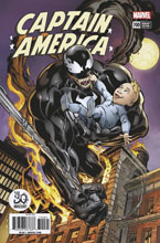 Image: Captain America #700 (Bagley Venom 30th Anniversary variant cover) - Marvel Comics