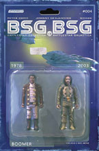 Image: BSG vs. BSG #4 (cover C Boomer Action Figure - Michael Adams) - Dynamite