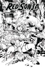 Image: Red Sonja Vol. 04 #16 (cover G incentive - Thibert B&W) (20-copy) - Dynamite