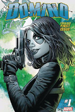 Image: Domino #1 (DFE Gold signed - Greg Land) - Dynamic Forces