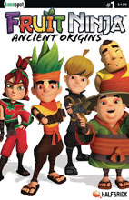 Image: Fruit Ninja: Ancient Origins #1 (cover B Team Photo - Halfbrick Studios) - Keenspot Entertainment