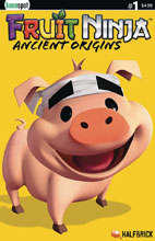 Image: Fruit Ninja: Ancient Origins #1 (cover C Truffles the Pig - Halfbrick Studios) - Keenspot Entertainment