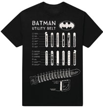 Image: DC Batman T-Shirt: Utility Belt [Black]  (S) - New Moda LLC