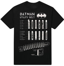 Image: DC Batman T-Shirt: Utility Belt [Black]  (XL) - New Moda LLC